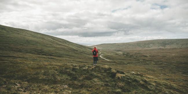 Eine Wanderin