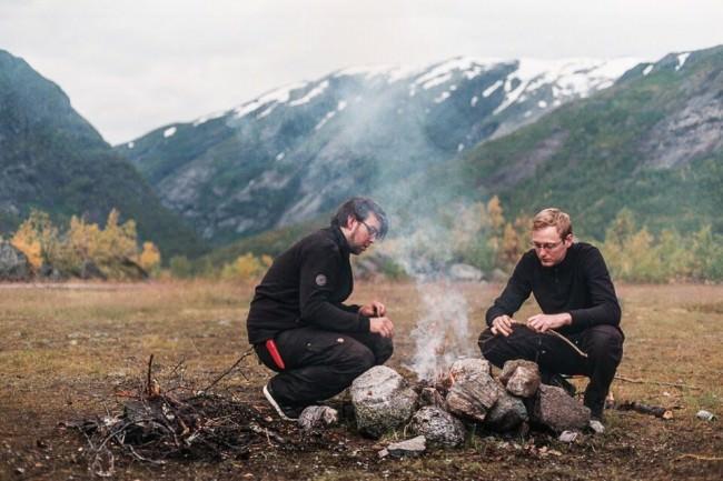 Eine Kochstelle in der Natur.
