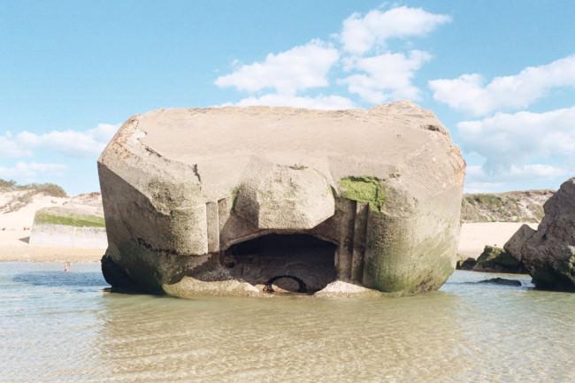 Ein Bunker am Strand.