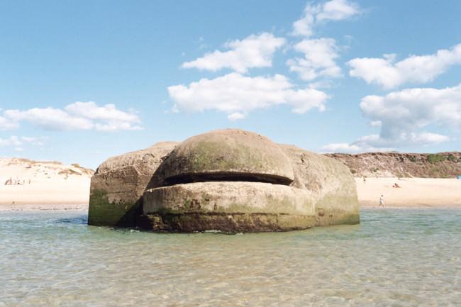 Bunker am Strand.