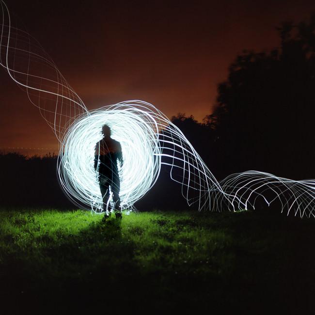 Lichtobjekt in der Natur.