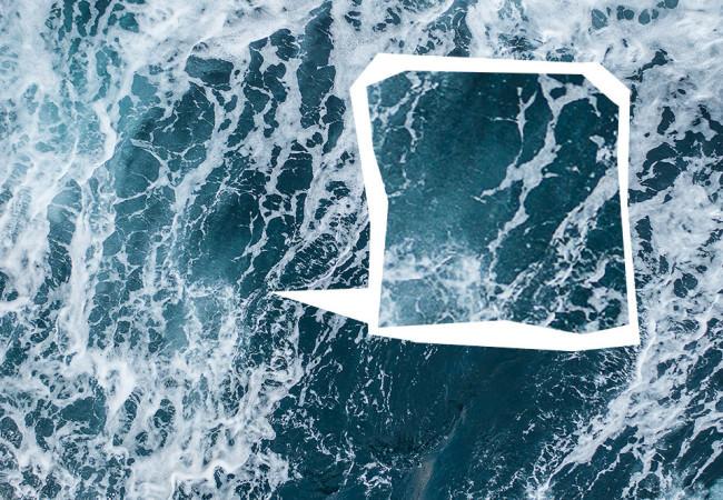 Ein schäumendes Meer