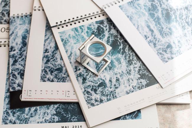 Kalender mit Fadensucher