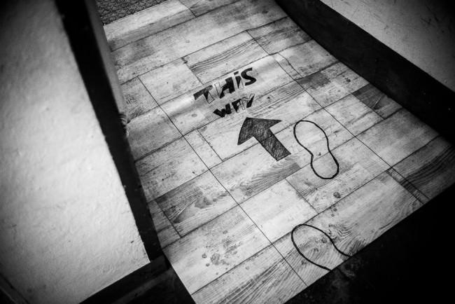 Ein bemalter Fußboden