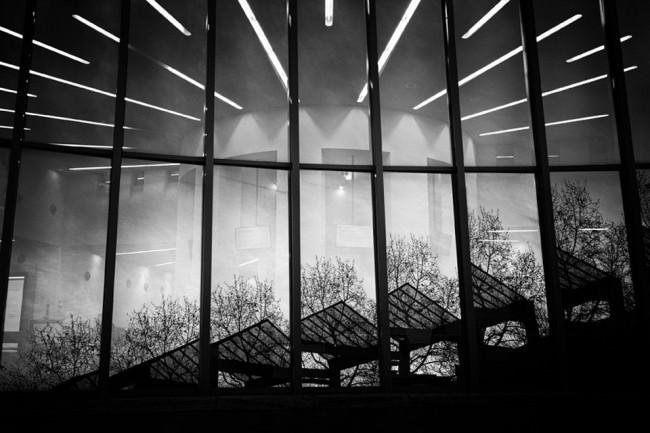 Eine Fensterfront