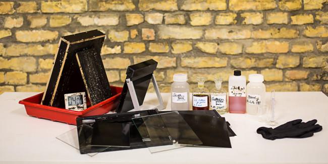 Materialien für Nassplattenverfahren