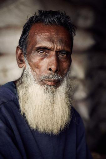 Portrait eines älteren Mannes mit weißem Bart