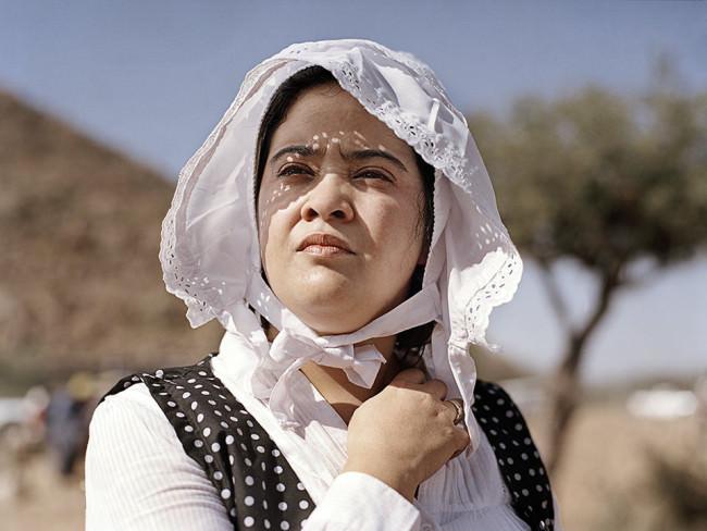 Portrait einer Frau mit Trachtenhut