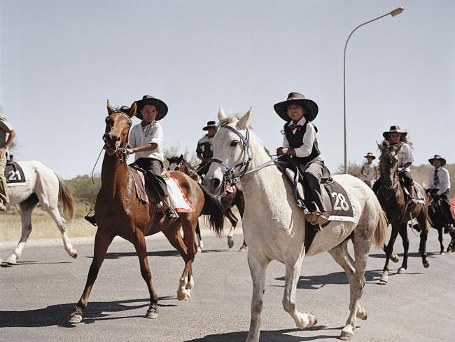 Zwei Reiter auzf Pferden