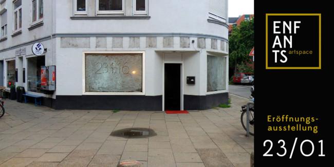 Eine Ladenzeile in Hamburg