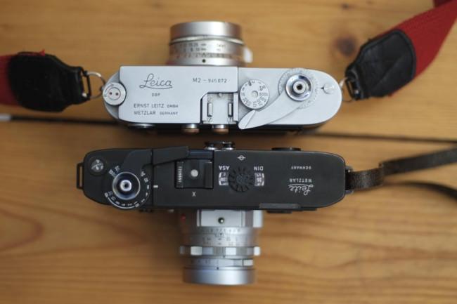 Zwei Leica Kameras im Vergleich