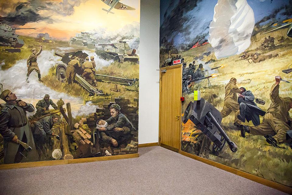 Wandmalereien, auf dem Schlachtfeld