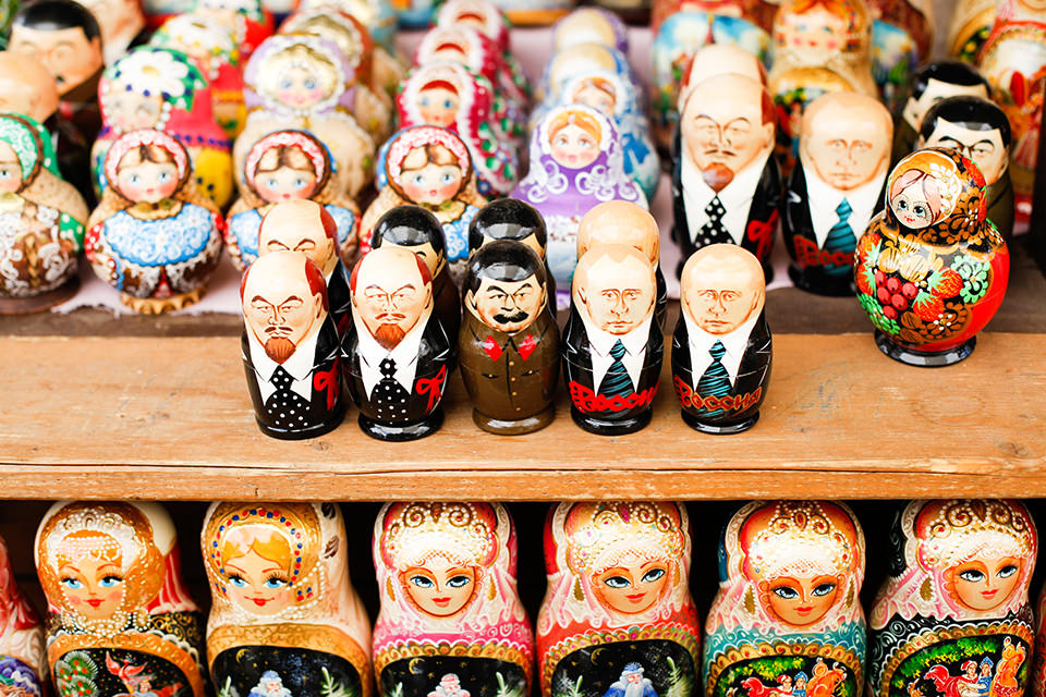 Matroschkas mit Stalin und Putin