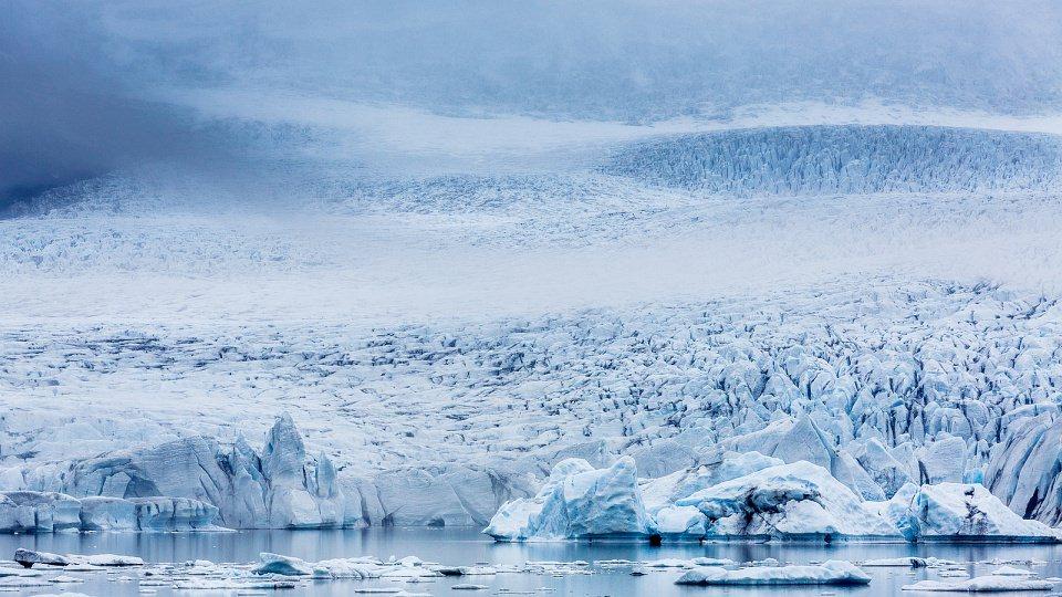Arktische Eislandschaft.