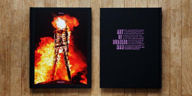 Buch Art of Burning Man von NK Guy vorn und hinten.
