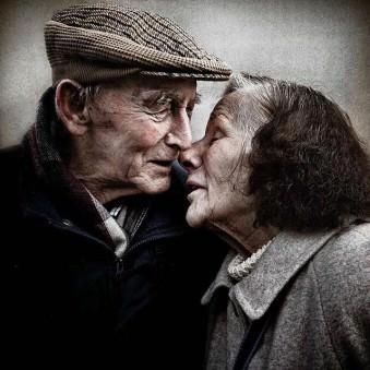 Portrait eines alten Paares
