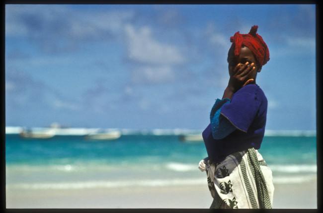 Die Frau und das Meer.