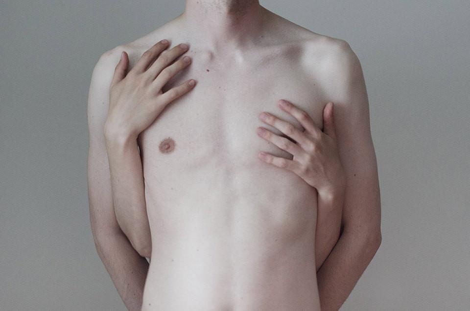Mensch, nackt, Hände