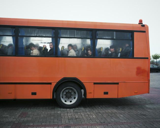 Ein oranger Bus