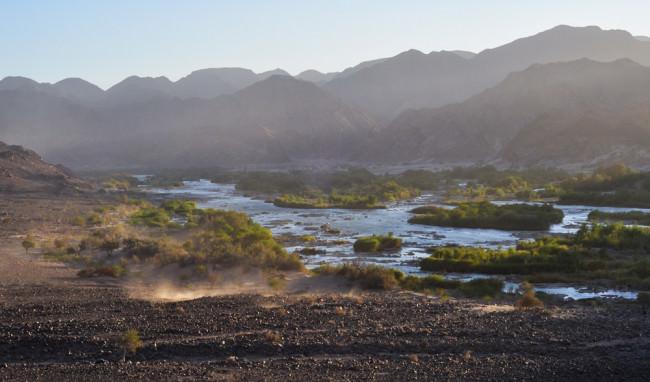 Eine Flusslandschaft