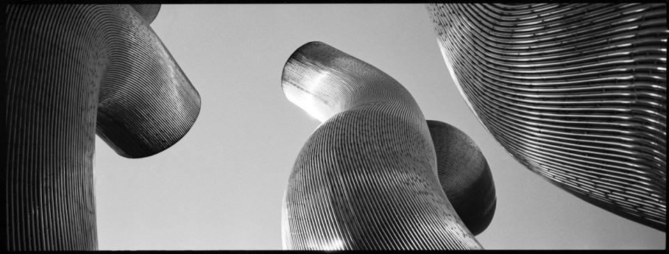 Metallskulptur.