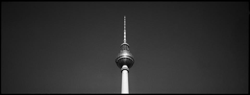 Spitze des Berliner Fernsehturms.
