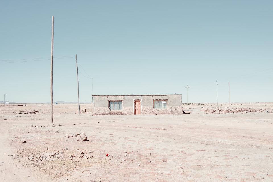 Eine Hütte in der bolivianischen Salzwüste