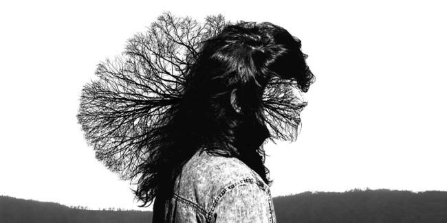 Ein Mensch aus dessem Kopf ein Baum wächst