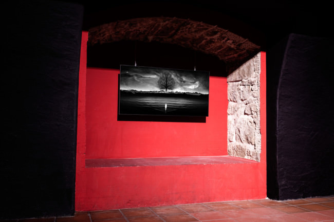Ein Foto in einer Ausstellung