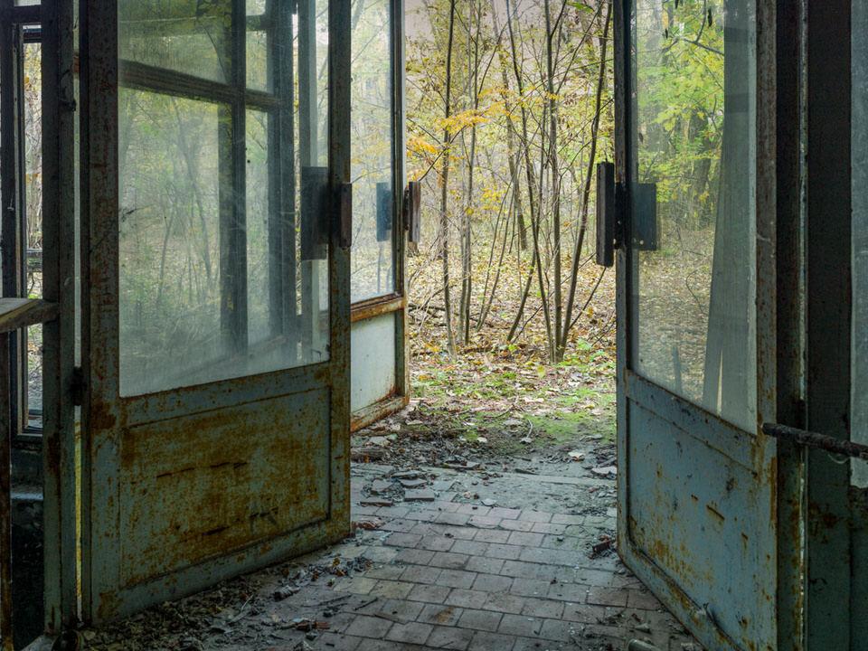 Verrostete Türen