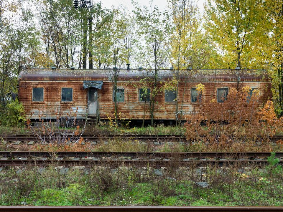 Ein alter Zugwaggon