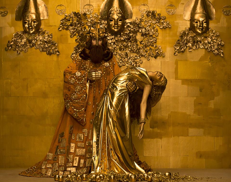 König Midas mit einer Frau
