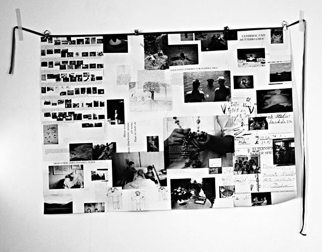 Collage in schwarzweiß.