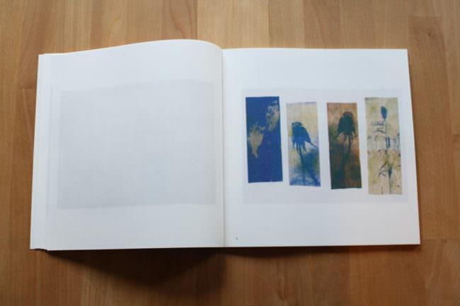 Foto eines aufgeschlagenen Buches mit vier Belichtungsstreifen.