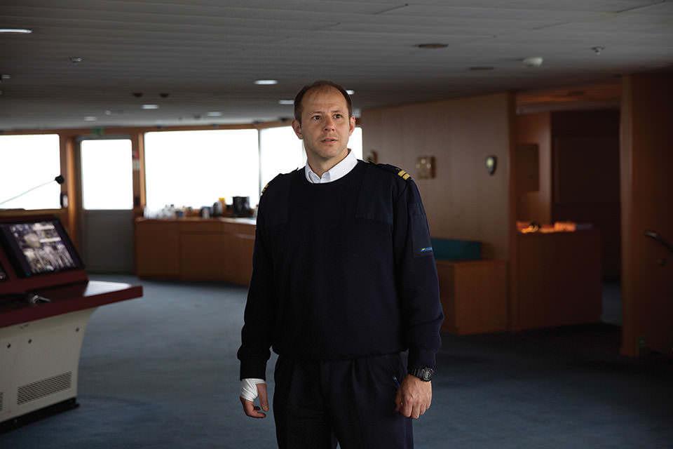 Portrait eines Schiffskapitäns.