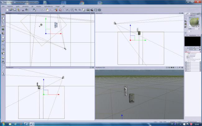 Screenshot eines 3D-Bearbeitungprogramms.