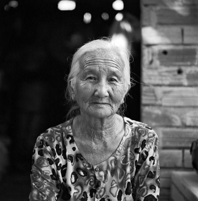 Portrait einer alten Frau.