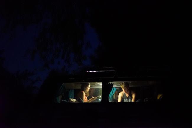 Beleuchtetes Autofenster