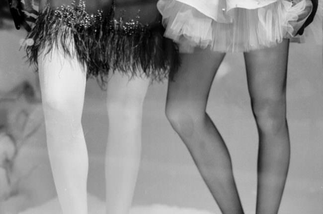 Beine von Schaufensterpuppen