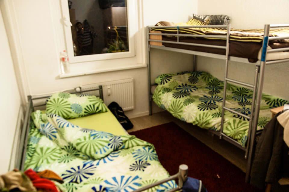 Ein Zimmer mit Stockbetten