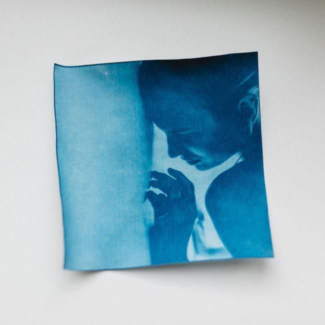 blaues Sunprint