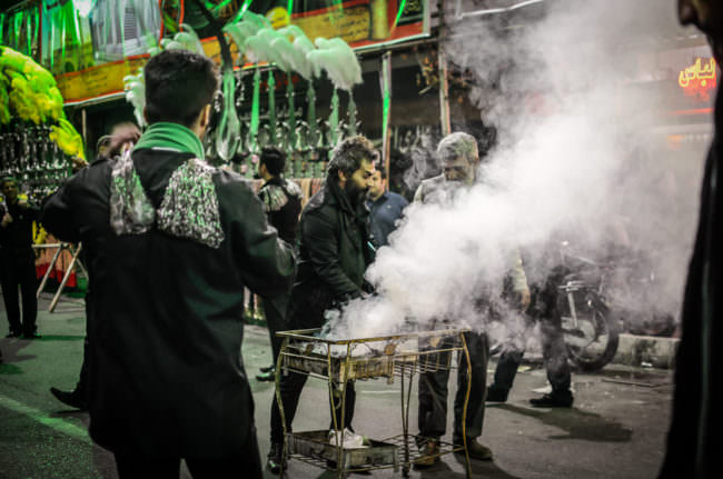 Aschura-Rituale in den Straßen von Teheran