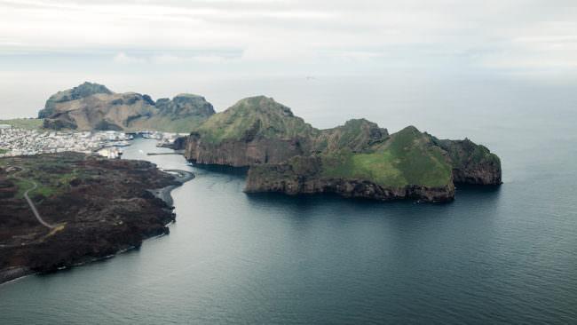 Eine Inselgruppe von oben