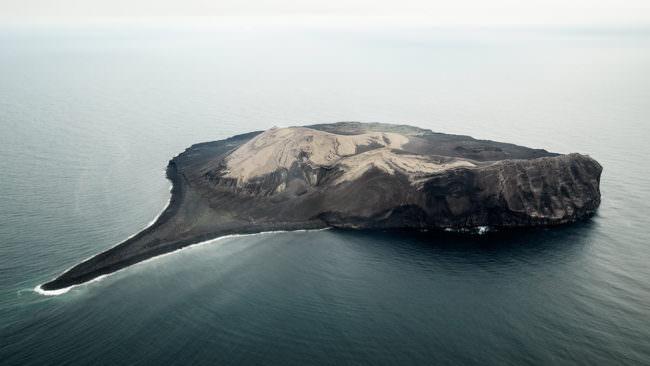 Eine Insel im Meer