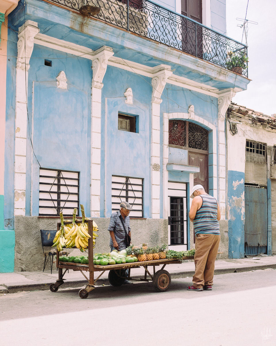 Ein Straßenhändler