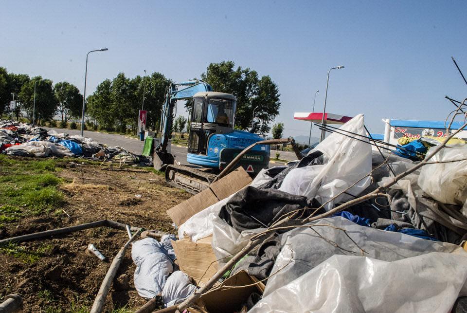Das EKO-Camp wird zerstört