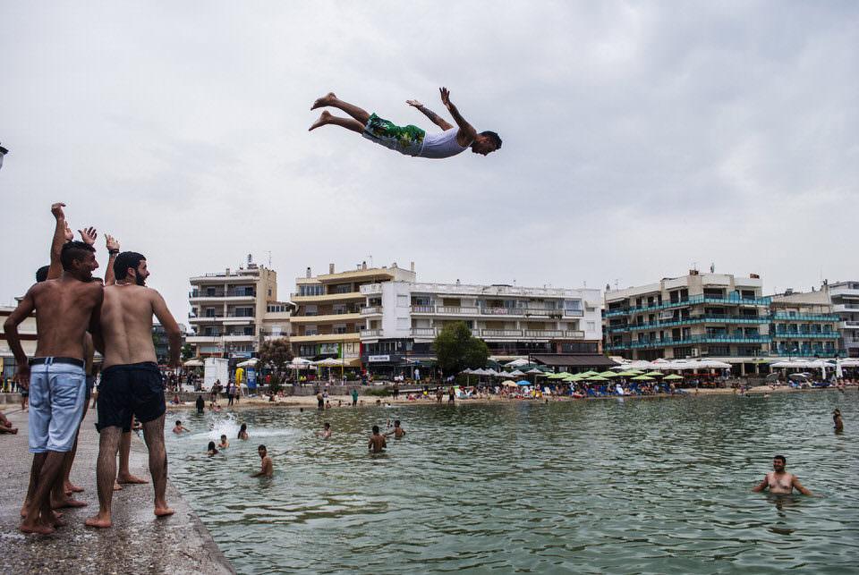 Schwimmen im Hafen
