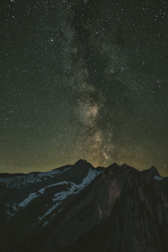 Sternenhimmel über Bergen