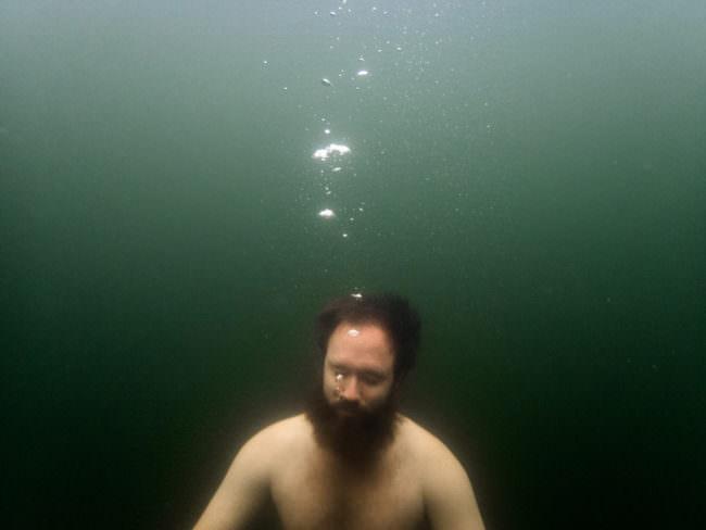 Mann Unterwasser