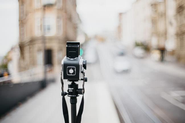 Kamera auf einer Straße